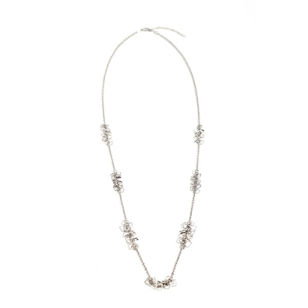 NEXTE Jewelry Silvertone Agora Fashion Chain Necklace