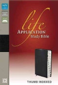 Life Application Study Bible: New International Version, Black, Top Grain Leather (Paperback)