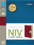 Niv Study Bible: New International Version Red / Tan Italian Duo-tone (Paperback)