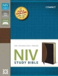 NIV Study Bible: New International Version, Tan / Burgundy, Italian Duo-Tone (Paperback)