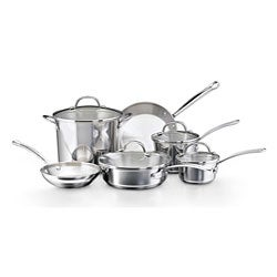 Farberware Millennium Tulip Shaped Stainless Steel 10-piece Cookware Set