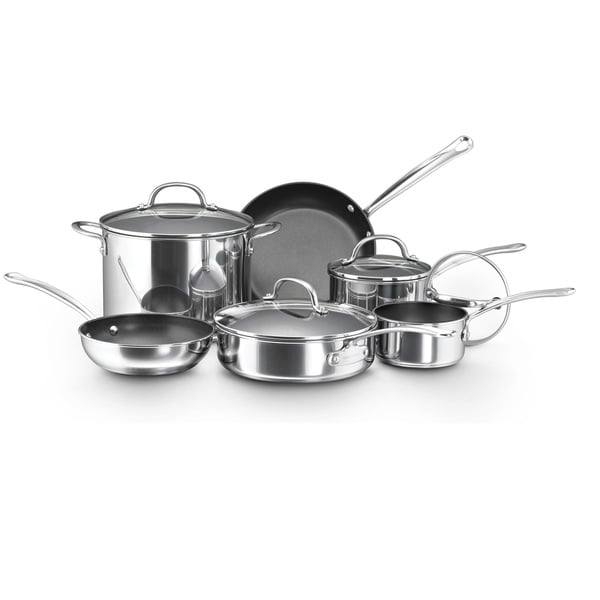 Farberware Millennium Nonstick Stainless Steel 10-piece ...
