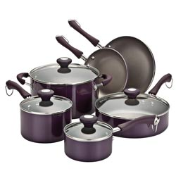 Paula Deen Traditional Porcelain 10-piece Purple Cookware Set