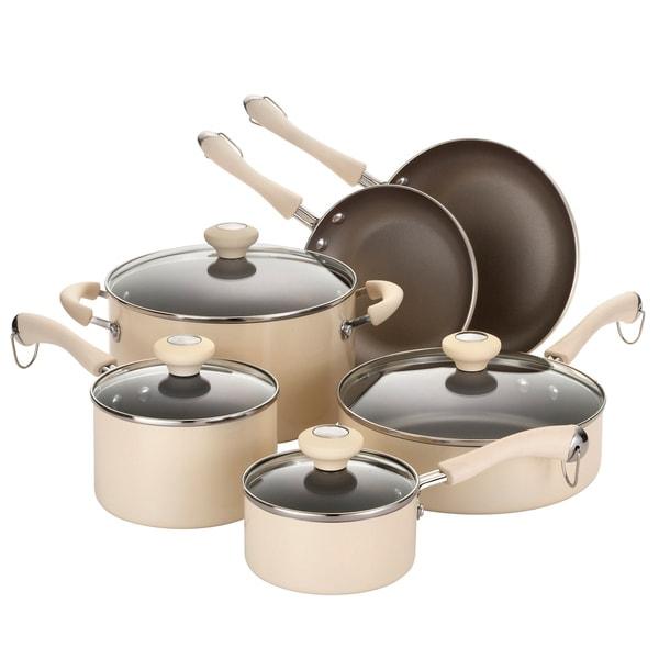Paula Deen Traditional Porcelain 10-piece Oatmeal Cookware Set