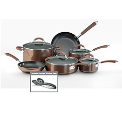 Farberware Millennium 12-piece Set Porcelain Nonstick Cookware, Bronze