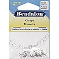 Beadalon Silverplated Ball and Hitch Clasps (Pack of 6)