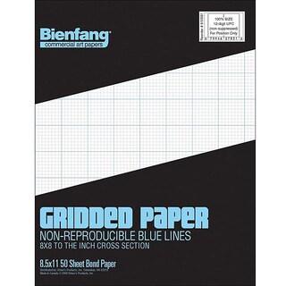 Bienfang 50-sheet Gridded Paper Pad (8.5 x11)