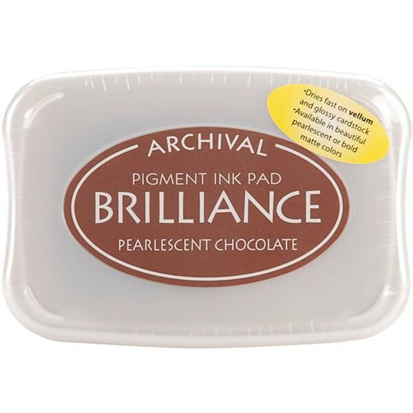 Brilliance Pigment Pearlescent Chocolate Inkpad