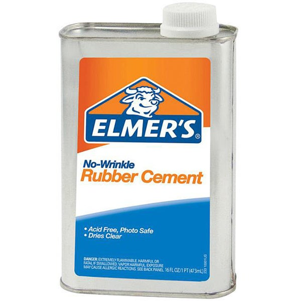 Elmer's No Wrinkle 16-oz Rubber Cement