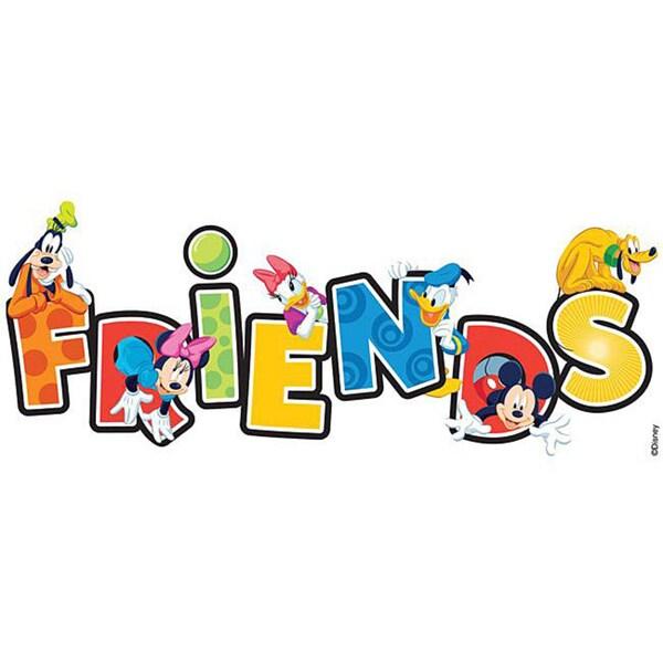 Disney Title Mickey Friends Dimensional Sticker