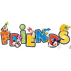 Disney Title Mickey Friends Dimensional Sticker