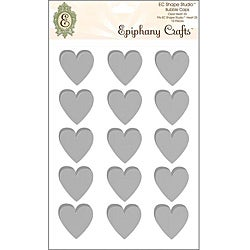 Epiphany Crafts Heart 25 Clear Bubble Caps