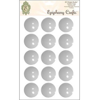Epiphany Round Clear Bubble Caps (Pack of 15)