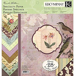K & Company Flora and Fauna 12x12-inch Double-sided Specialty Paper Pad