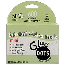 Glue Dots School Value Pack 0.5-inch Mini Dots (Case of 50 sheets)