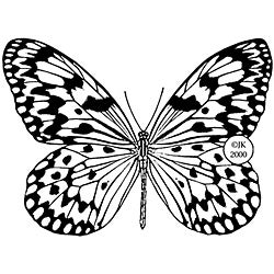 Judikins Butterfly 3 Rubber Stamp