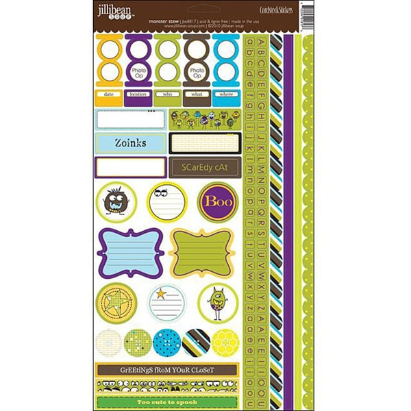 Jillibean Soup Monster Stew Cardstock Sticker Sheet