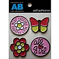 Amanda Blu Girl Stickers Painted Tin Embellishments