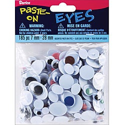 Darice Paste-on Assorted Size Multi-colored Wiggle Eyes