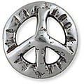 Leather Factory Antique Silver Peace Symbol Concho