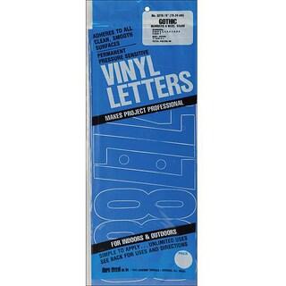 Duro Gothic/Blue Permanent Adhesive Vinyl Numbers