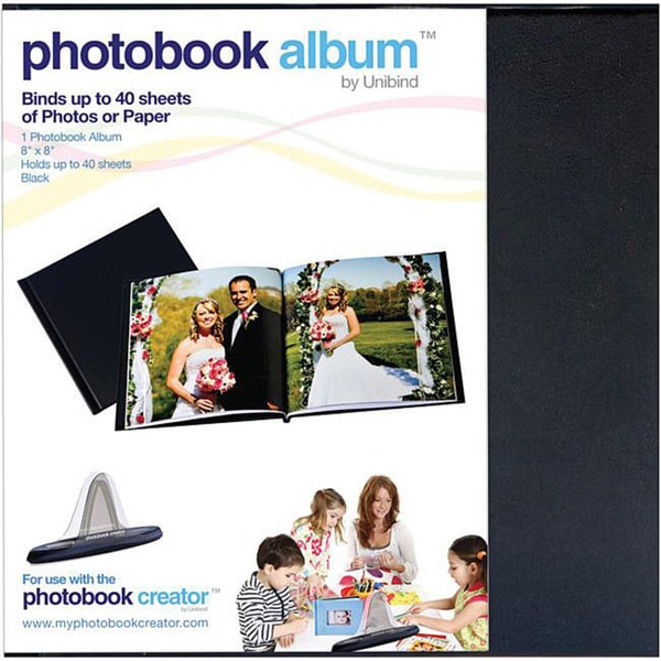 Unbind Black 9mm Photobook Album 8x8