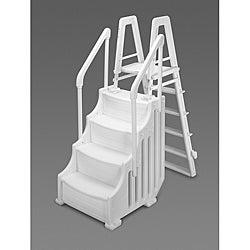 Blue Wave Above Ground 24-inch Simple Step and Outside Ladder