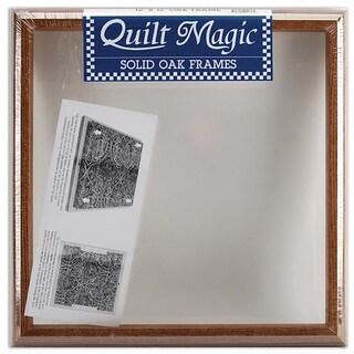 Quilt Magic 12x12-inch Oak Frame