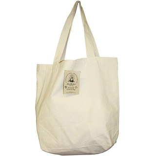 Aunt Martha's Natural Cotton Canvas Easy-carry Reusable Grocery Bag