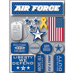 Signature Dimensional Air Force Stickers