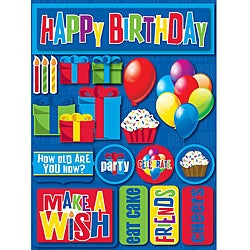 Signature Dimensional Birthday Stickers