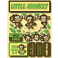 Signature Dimensional Monkey Stickers
