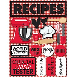 Reminisce 'Recipes' Signature Dimensional Sticker Sheet