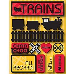 Signature Dimensional Trains Stickers