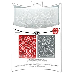 Sizzix Textured Impressions Flowers, Stars, Swirls Embossing Folders