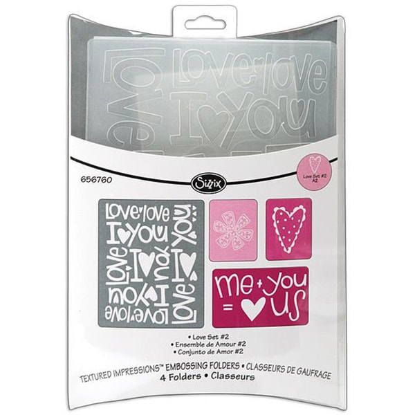 Sizzix Textured Impressions Love Set 2 Embossing Folders