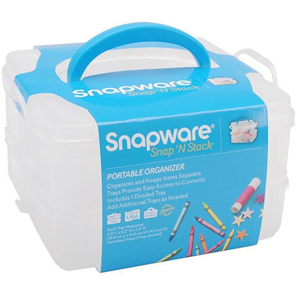 Snapware Snap 'n Stack Small Square Craft Organizer