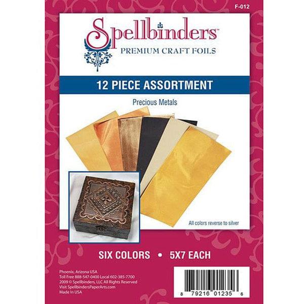 Spellbinder's Precious Metals Craft Foil (Pack of 12)