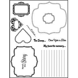Spellbinders Dash It All Clear Stamps