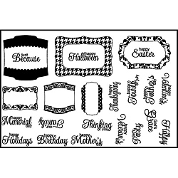 Spellbinders Label Accents Clear Stamps