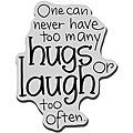 Stampendous Cling Hugs and Laughs Rubber Stamp
