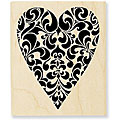 Stampendous Cling Ornate Heart Rubber Stamp