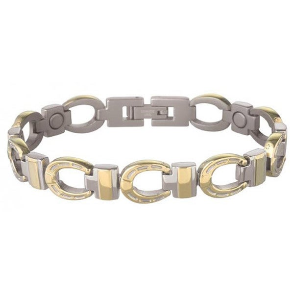 Sabona 18K Gold Horseshoe Duet Magnetic Bracelet