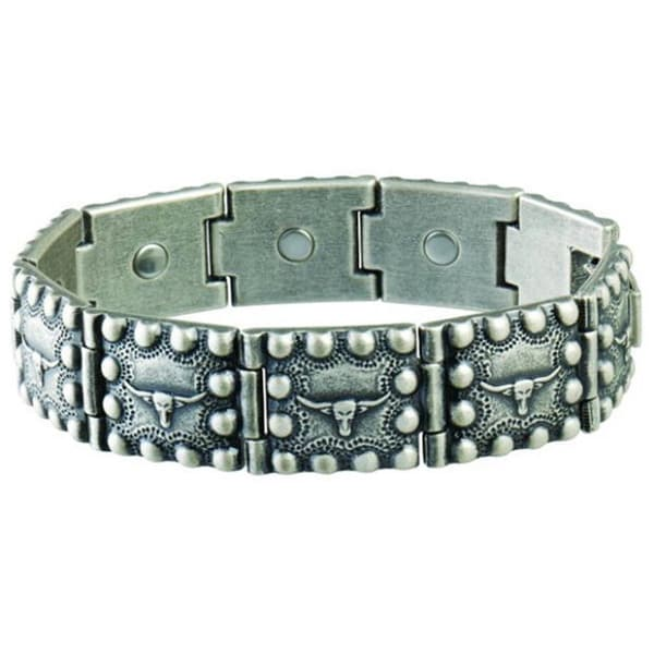 Sabona Steer Head Beaded Edge Magnetic Bracelet