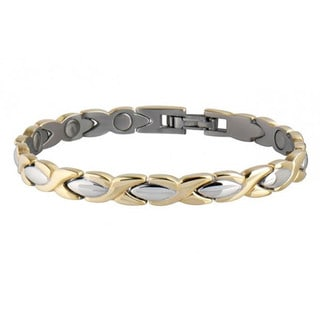 Sabona Lady Executive Dress 18-k Gold Duet Magnetic Bracelet
