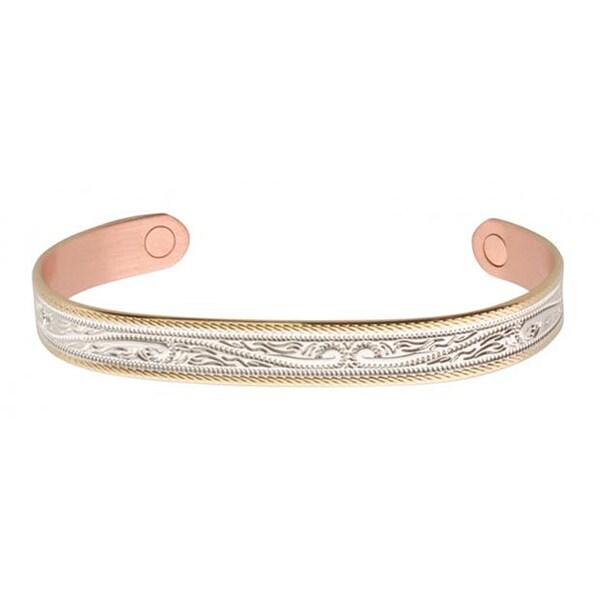 Sabona Western Scroll Duet Magnetic Bracelet