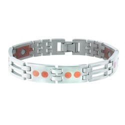 Sabona Stainless Steel and Copper Link Magnetic Bracelet