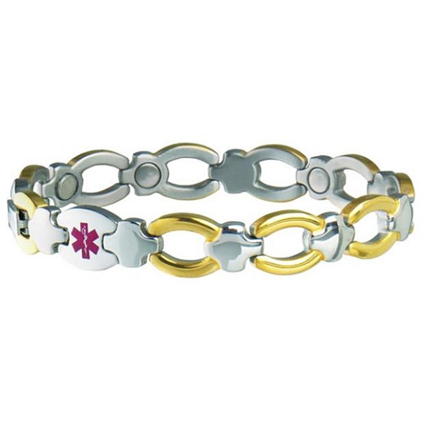 Sabona Women's Magnetic Bracelet Med ID Bracelet (Diabetic)
