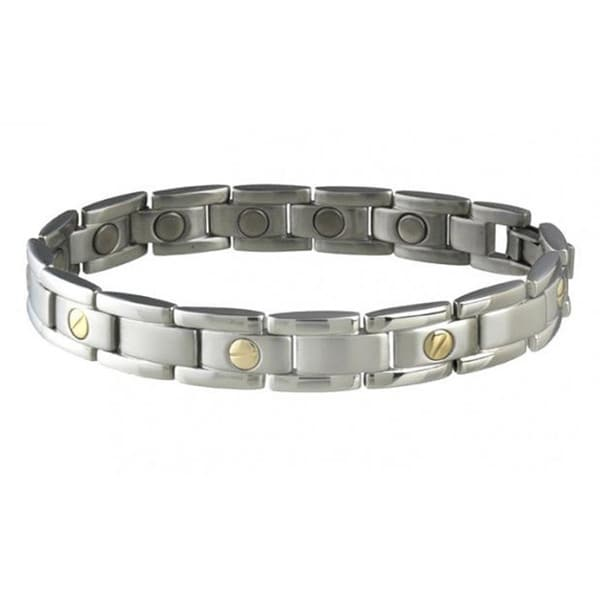 Sabona Executive Nails Head Duet Magnetic Bracelet