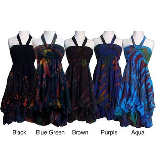 Women's Rayon Tie-dye Multi-wear Dress (Nepal)